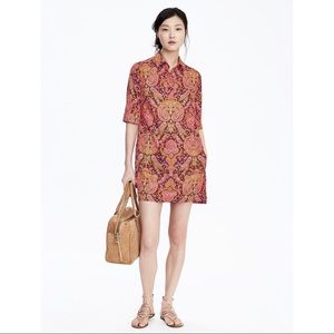Banana Republic Paisley Elbow Sleeve Dress